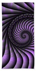 Spiral Purple And Grey Hand Towel