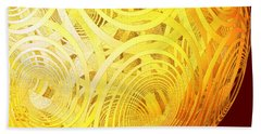 Spiral Sun By Jammer Hand Towel