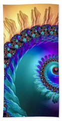 Spiral With Beautiful Orange Purple Turquoise Colors Hand Towel