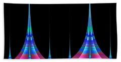 Bath Towel featuring the digital art Spires by GJ Blackman