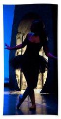 Spirit Of Dance 3 - A Backlighting Of A Ballet Dancer Hand Towel