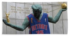Spirit Of Detroit Piston Hand Towel