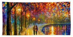 Spirits By The Lake - Palette Knife Oil Painting On Canvas By Leonid Afremov Hand Towel