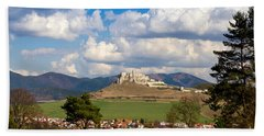 Hand Towel featuring the photograph Spissky Hrad - Castle by Les Palenik