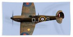 Spitfire Mk 1 R6596 Qj-s Bath Towel by Gary Eason