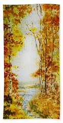 Splash Of Fall Bath Towel