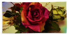 Splendid Painted Rose Hand Towel