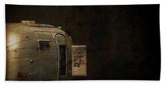 Spooky Airstream Campsite Bath Towel