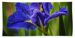 Spring Blue Iris Bath Towel