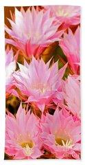Spring Cactus Bath Towel by Michael Cinnamond