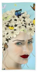 Spring Face - Limited Edition 2 Of 15 Bath Towel