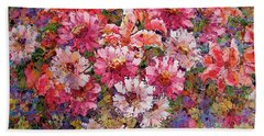 Spring Flower Bouquet Bath Towel