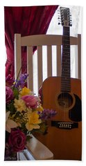 Spring Guitar Bath Towel