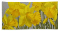 Hand Towel featuring the painting Spring by Karen Ilari