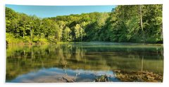 Spring Mill Lake Hand Towel by Adam Jewell