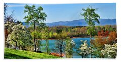 Spring On The Lake Bath Towel by Kenny Francis