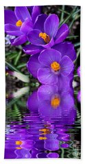 Hand Towel featuring the photograph Spring Reflection by Judy Palkimas