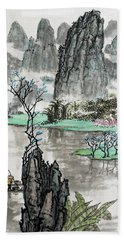 Bath Towel featuring the photograph Spring River II by Yufeng Wang