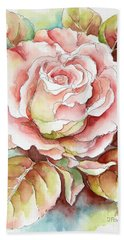 Spring Rose Bath Towel by Inese Poga