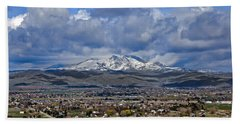 Spring Snow On Squaw Butte Bath Towel