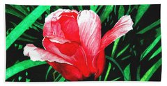 Bath Towel featuring the painting Spring Solo by Barbara Jewell