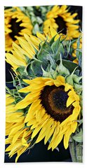 Spring Sunflowers Bath Towel