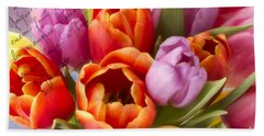 Spring Tulips Bath Towel