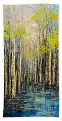 Hand Towel featuring the painting Spring Wind by Tatiana Iliina