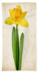 Spring Yellow Daffodil Bath Towel