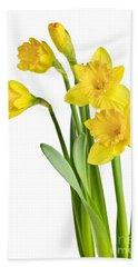 Spring Yellow Daffodils Bath Towel