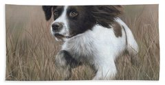 Springer Spaniel Painting Hand Towel