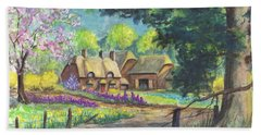 Springtime Cottage Hand Towel