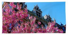 Springtime On Commonwealth Avenue Hand Towel