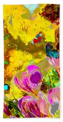 Springtime Splash Hand Towel by Mayhem Mediums