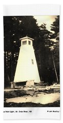 Spruce Point Lighthouse Hand Towel