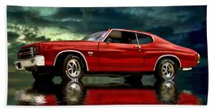 Hand Towel featuring the photograph Chevelle 454 by Steven Agius