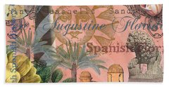 St. Augustine Florida Vintage Collage Hand Towel