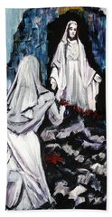 St. Bernadette At The Grotto Hand Towel