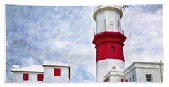 Hand Towel featuring the photograph St. David's Lighthouse by Verena Matthew