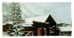 Hand Towel featuring the painting St Elmo Snow by Craig T Burgwardt