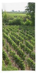 Bath Towel featuring the photograph St. Emilion Vineyard by HEVi FineArt