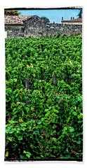 Hand Towel featuring the photograph St. Emilion Winery by Joan  Minchak