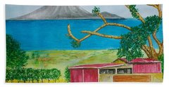 St. Eustatis From St. Kitts Hand Towel by Frank Hunter