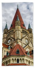 St. Francis Of Assisi Church In Vienna Bath Towel
