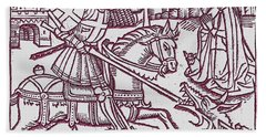 St. George - Woodcut Hand Towel