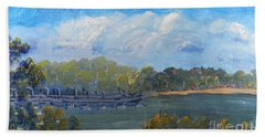 St Georges River Near Como Marina  Bath Towel