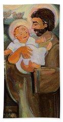 St. Joseph And Baby Jesus Hand Towel