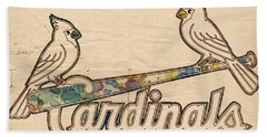 St Louis Cardinals Poster Art Hand Towel by Florian Rodarte