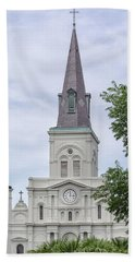St. Louis Cathedral Through Trees Bath Towel