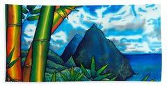 St. Lucia Pitons Hand Towel